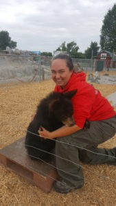 Lenz with a bear cub.