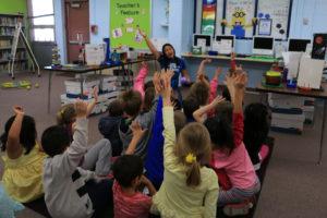 Noyce Scholar Katie Wybenga teaches a class