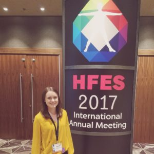 Karen Gilbert presented her research at the HFES annual meeting