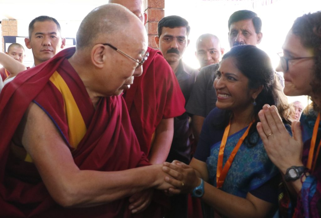 Meena Balgopal and Dalai Lama
