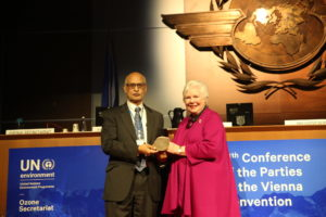A. R. Ravishankara Receives the U.N. Scientific Leadership Award