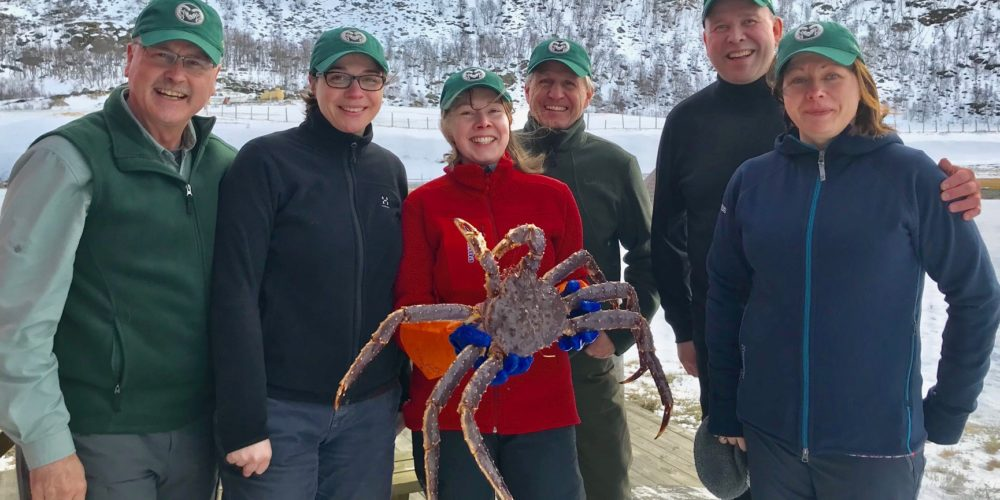 Mykles and colleagues with red king crab