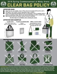CSU clear bag policy graphic