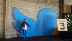 Daiana Bilbao at Twitter headquarters