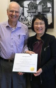 bamburg and minamide with fellowship certificate