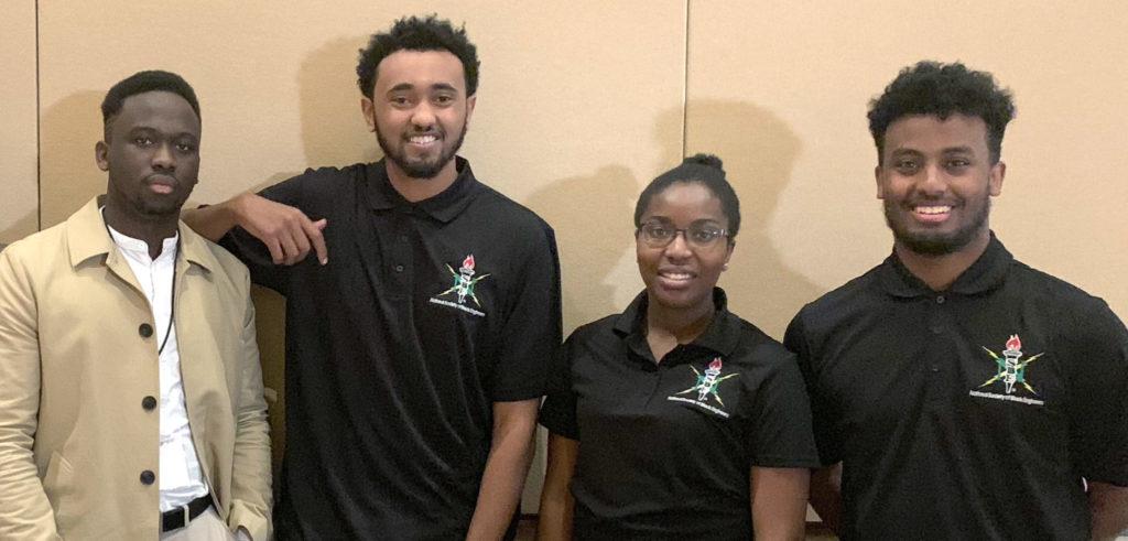 photo of 2018 hackNSBE winning team members