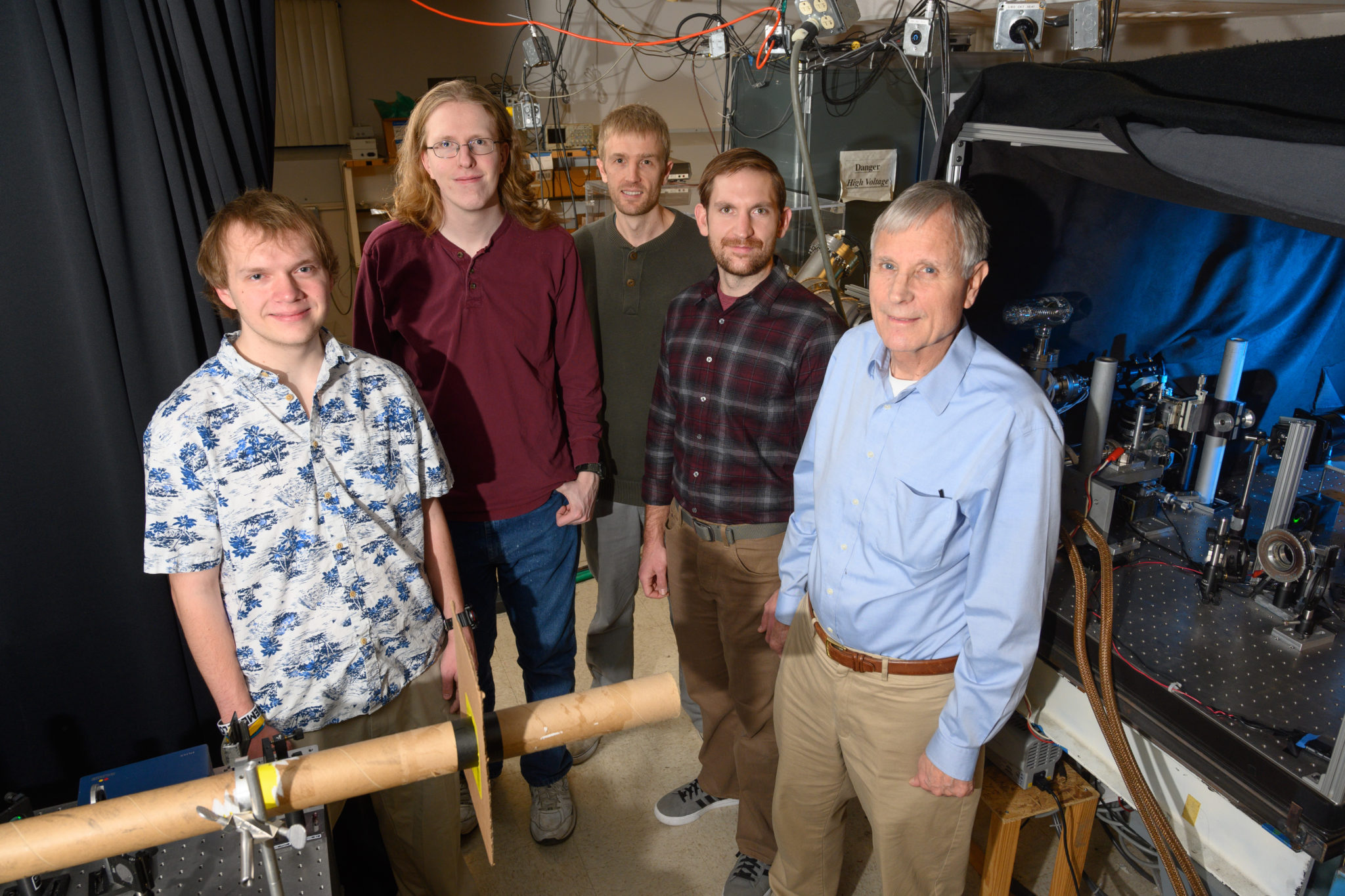Bill Fairbank with his research group at CSU.
