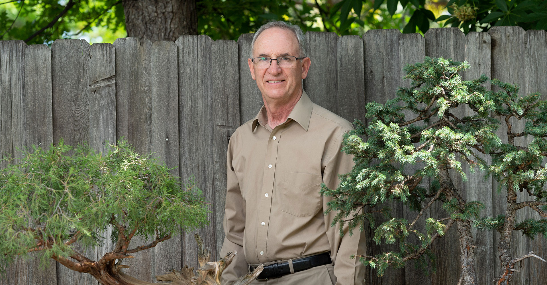 darrell whitley with bonsai trees