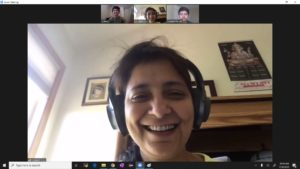 People in a Zoom call