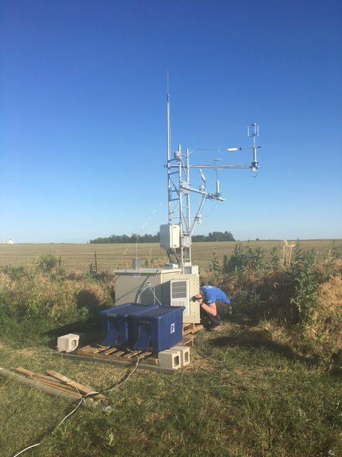 Checking field equipment