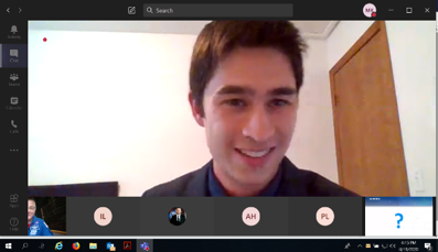 Photo of Michael Moy in a Zoom Call
